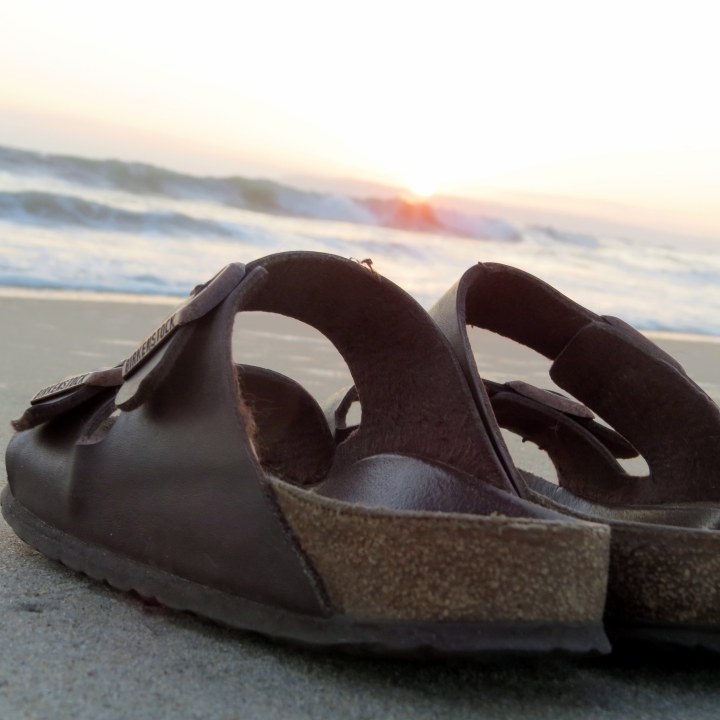 #sandals #waves #sunset